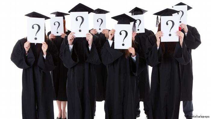 Studenten Uni Abschluss Symbolbild