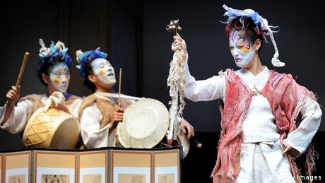 Yohangza production of Shakespeare's A Midsummer Night's Dream Photo: WILLIAM WEST/AFP/Getty Images