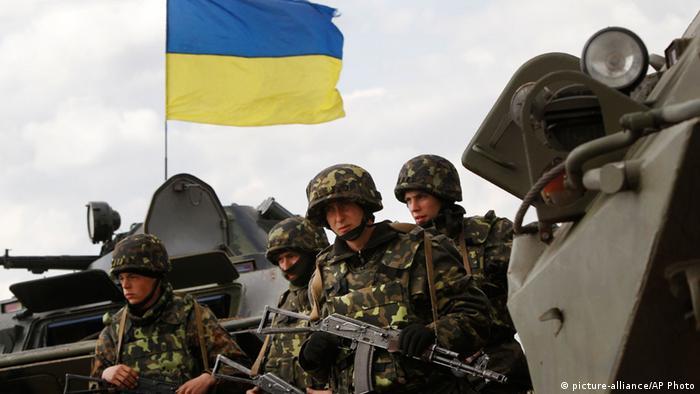 Ukraine ukrainische Soldaten in Ostukraine