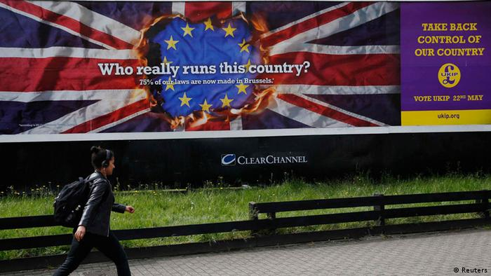 An anti-EU campaign poster from UKIP