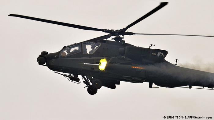 Apache Kampfhelikopter (JUNG YEON-JE/AFP/GettyImages)