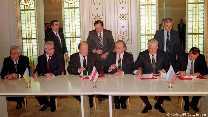 Встреча в Беловежской пуще, положившая начало СНГ