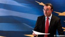 Griechenland Finazminister Christos Staikouras 23.04.2014