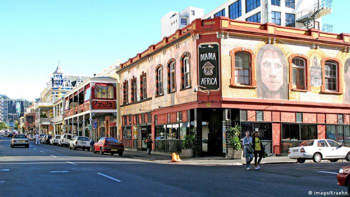 A street scene in Cape Town