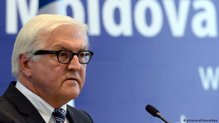 Міністр закордонних справ ФРН Франк-Вальтер Штайнмайєр у Кишиневі, 23 квітня 2014 року