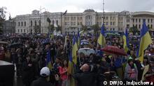Bild: Oleksandra Indjuchowa auf einer Demo Für die Einheit der Ukraine, die heute in Charkiw stattfand. 23.04.2014 Auf allen Bildern sind Teilnehmer der Demo zu sehen.