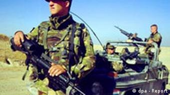 Dutch soldiers on patrol in Kunduz