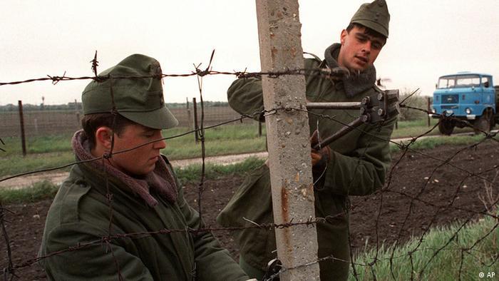 Ungarn Grenze Österreich Revolution in Osteuropa 1989