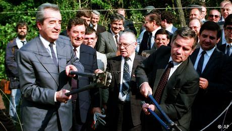 Ungarn Österreich Grenzöffnung in 1989 Gyula Horn