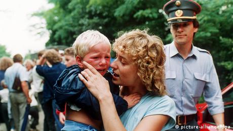 Ungarn Österreich Grenze Massenflucht aus der DDR 1989