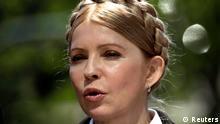 Ukrainian presidential candidate Yulia Tymoshenko speaks during a briefing in Luhansk, eastern Ukraine April 24, 2014. REUTERS/Vasily Fedosenko (UKRAINE - Tags: POLITICS CIVIL UNREST HEADSHOT)