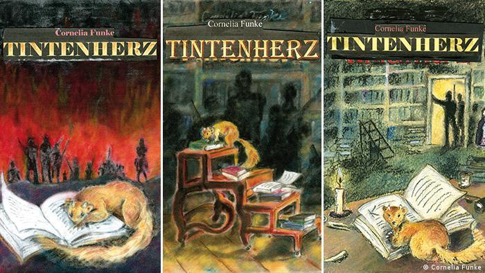 Чернильная трилогия Функе, обложки книг