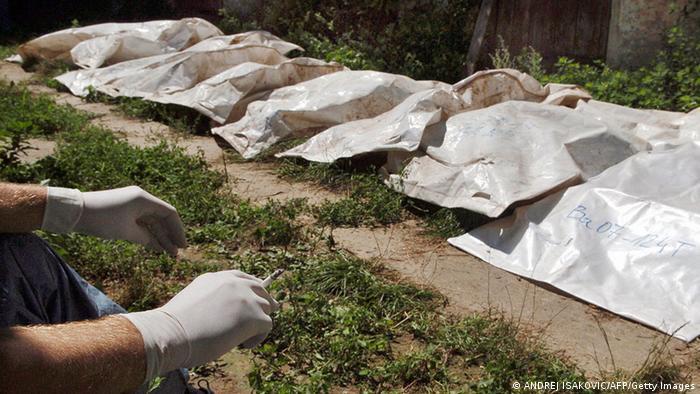 Ekshumacija tela iz masovne grobnice u Batajnici 2005.