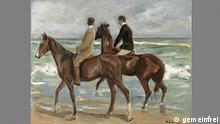 Gemälde Zwei Reiter am Strand von Max Liebermann.Öl auf Leinwand, 1901. Quelle: http://commons.wikimedia.org/wiki/File:Max_Liebermann_-_Zwei_Reiter_am_Strand.jpg Zwei Reiter am Strand (2009 bei Sotheby's in Privatbesitz verkauft)
