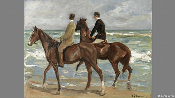 Zwei Reiter am Strand - Max Liebermann