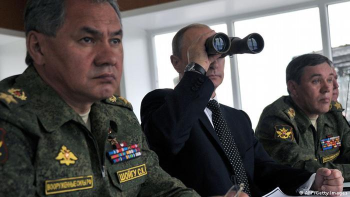 Putin u društvu časnika s dalekozorom