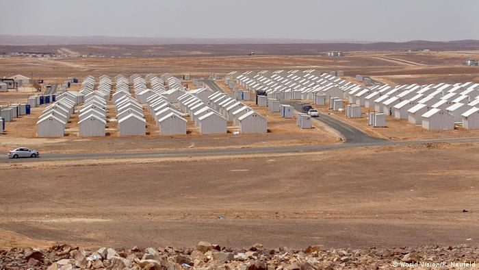 Новый лагерь для сирийских беженцев Азрак