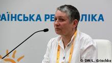 Die russische Schriftstellerin Ljudmila Ulitskaja in Kiew. Foto DW/ Lilija Grischko