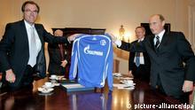 Putin mit Schalke-Trikot