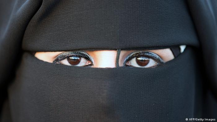 Frau mit Niqab