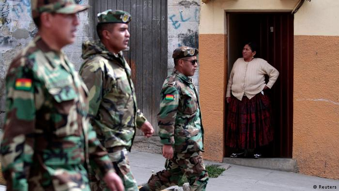 Bolivien Armee Offiziere Protest