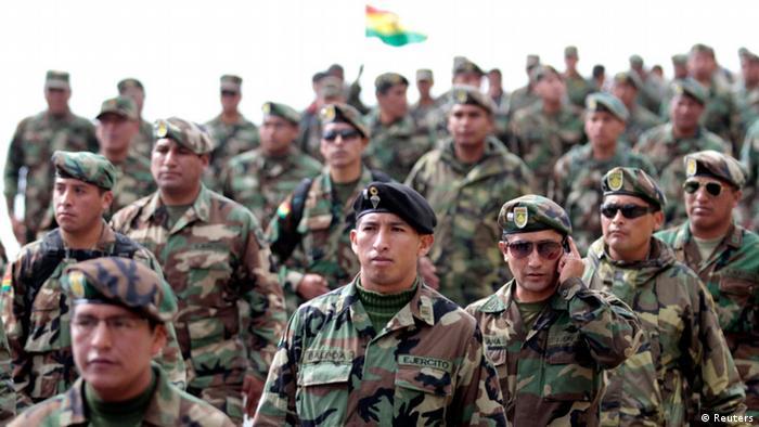 Foto de soldados bolivianos
