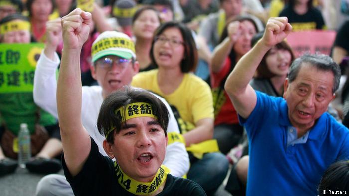 Anti Atomkraft Protest Taiwan 26.4.2014