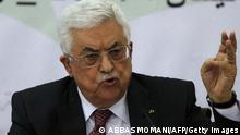 Porträt Mahmoud Abbas 26. April 2014