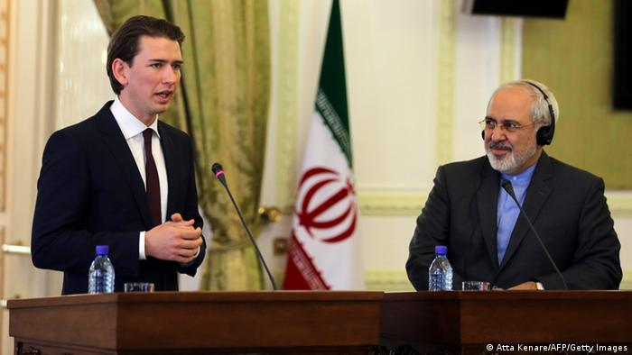Sebastian Kurz meets Javad Zarif in 2014 Iran (Atta Kenare/AFP/Getty Images)