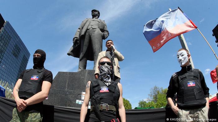 Ukraine Donezk Pro Russland 27.4.2014
