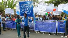 Demonstration der Blue Party in Addis Abeba, Äthiopien