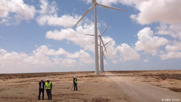 Windenergie in Tarfaya Marokko