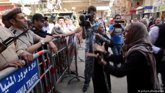 Protesters in Minya