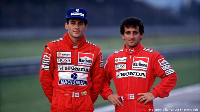 Ayrton Senna und Alain Prost