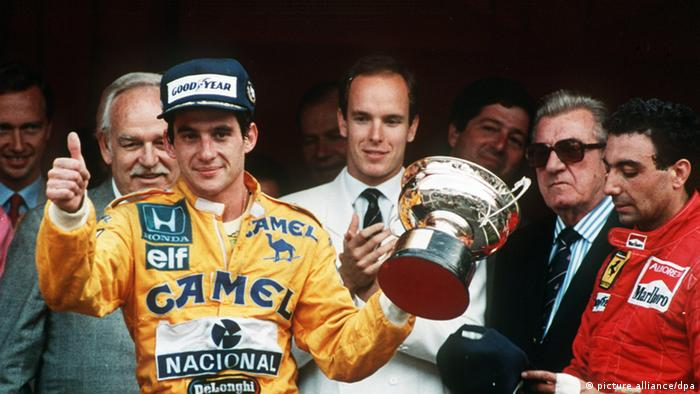 Ayrton Senna Siegerehrung