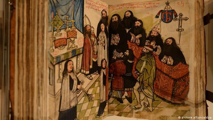 Quadro mostra cena do concílio de Constança