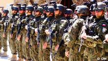 This photo shows the Ceremony of security transmission from polish ISAF solders to Afghan national security forces ANSF on 27, 04, 2014. The polish solders will return home next week after 7 years mission in Ghazni, Afghanistan. Poland Provincial reconstruction Team PRT spend 27 million $ for construction of Ghazni Province of the country. Photo:Wafa-DW