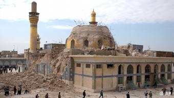 The destroyed cupola of the al-Askari Mosque