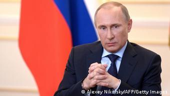 Porträt von Wladimir Putin (Foto: ALEXEY NIKOLSKY/AFP/Getty Images)