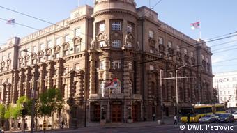 Hauptsitz der Regierung in Serbien (DW/I. Petrovic)