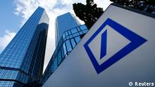 File photo of headquarters of Deutsche Bank in Frankfurt October 29, 2013. Deutsche Bank is considering raising the fixed pay of its management board members by more than a third in response to new EU regulations, a German paper reported April 10, 2014. The fixed pay of each board member could rise by several hundred thousand euros, Die Welt reported, citing sources close to the company. For co-CEOs Anshu Jain and Juergen Fitschen, the increase could be close to 1 million euros ($1.4 million), the paper added. REUTERS/Ralph Orlowski/Files (GERMANY - Tags: BUSINESS)