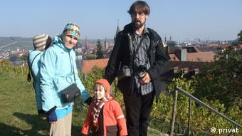 Vlastimil Brom with his family in Würzburg (Photo: Vlastimil Brom)