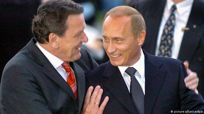 Герхард Шрёдера и Владимир Путин