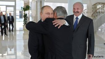Владимир Путин, Нурсултан Назарбаев и Александр Лукашенко в Минске