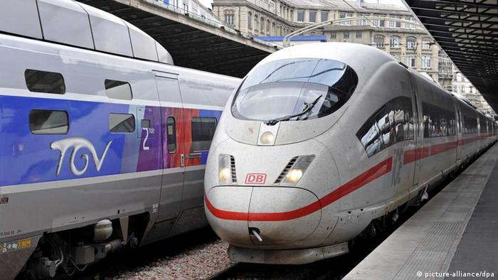 Alstom TGV next to Siemens ICE (Picture Alliance/dpa)
