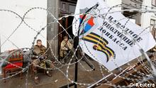 Russland Hauptquartier Eingang Luhansk
