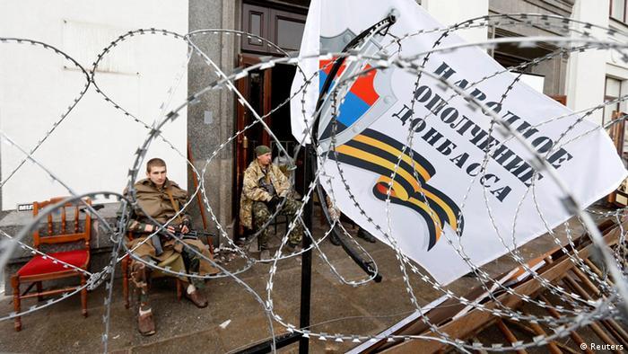 Главный штаб сепаратистов в Луганске