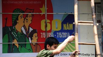 Vietnam Frankreich Schlacht von Dien Bien Phu Gedenken Plakat