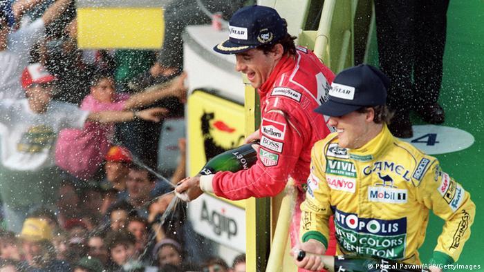 Ayrton Senna und Michael Schumacher Archiv 1992