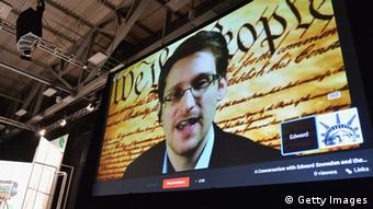 Edward Snowden, video conference
